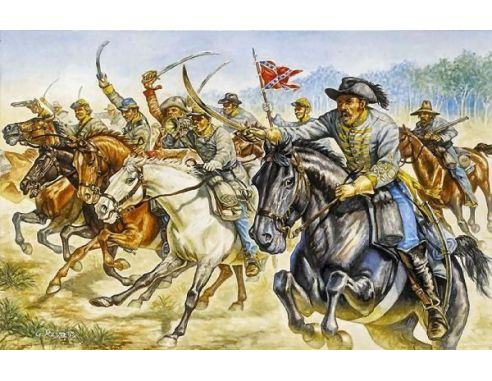Italeri IT6011 CONFEDERATE CAVALRY RAIDERS KIT 1:72 Modellino