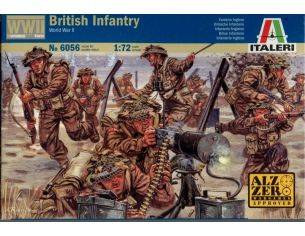 Italeri IT6056 WWII BRITISH INFANTRY KIT 1:72 Modellino