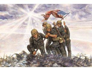 Italeri IT6098 IWO JIMA FLAG RAISERS KIT 1:72 Modellino