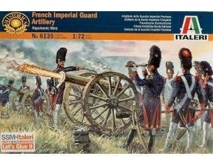 Italeri IT6135 FRENCH IMPERIAL GUARD ARTILL.KIT 1:72 Modellino