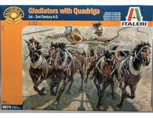 Italeri IT6874 GLADIATORS W/QUADRIGA KIT 1:32 Modellino