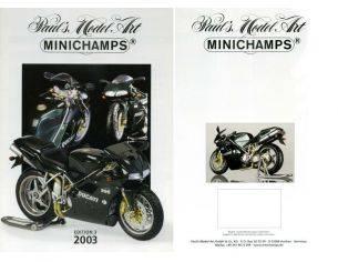 Minichamps PMCAT2003-3 CATALOGO MINICHAMPS 2003 EDITION 3 PAG.15 Modellino