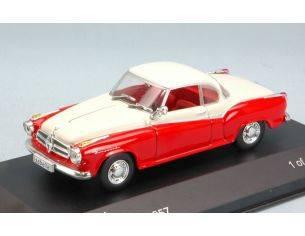 White Box WB128 BORGWARD ISABELLA COUPE' 1957 RED/MATT WHITE 1:43 Modellino