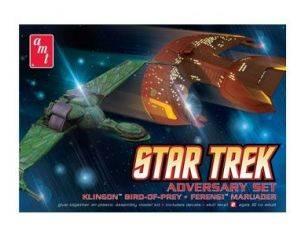 AMT AMTS752 STAR TREK ADVERSARY SET (2x cm 9) KIT Modellino