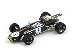 Spark Model S4337 BRABHAM BT24 J.RINDT 1968 N.3 3rd SOUTH AFRICAN GP 1:43 Modellino