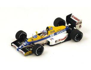 Spark Model S4321 WILLIAMS FW12C R.PATRESE 1989 N.6 2nd US GP 1:43 Modellino