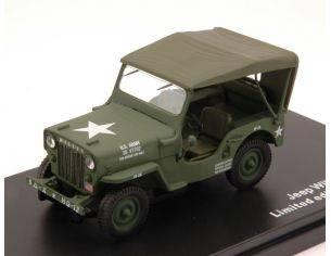 Triple 9 T9-43038 JEEP WILLYS CJ3B 1953 SOFT TOP US ARMY 1:43 Modellino