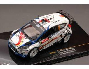 Ixo model RAM491 FORD FIESTA RS WRC N.8 6th MONTE CARLO 2012 DELECOUR-SAVIGNONI 1:43 Modellino