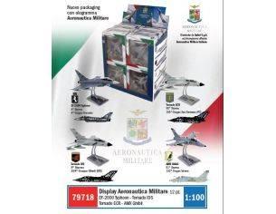 Italeri IT79718 FRECCE TRICOLORI (3xTIPHOON;TORNADO IDS;TORNADO ECR; AMX) Pz.12 1:100 Modellino