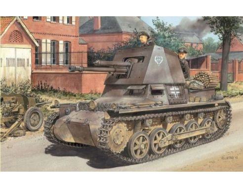Dragon 6258 PANZERJAGER I 4,7 CM EARLY PRODUCTION KIT 1:35 Modellino