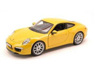 BBURAGO BU21065Y PORSCHE 911 CARRERA S 2012 YELLOW 1:24 Modellino