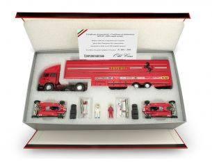 Brumm BMRTS05 RACE F1 TRANSPORTER SET S.MARINO GP 1982 ED.LIM.PCS 500 1:43 Modellino