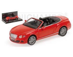 Minichamps PM436139061 BENTLEY CONTINENTAL GT SPEED CABRIO ST.JAMES 2012 RED 1:43 Modellino
