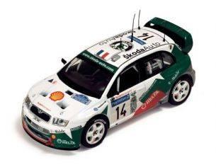 Ixo model RAM135 SKODA FABIA WRC N.14 TDC'03 1:43 Modellino