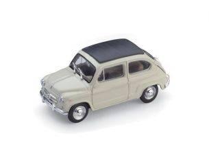 Brumm BM0318-01 FIAT 600D TRASFORMABILE CHIUSA 1960 AVORIO 1:43 Modellino