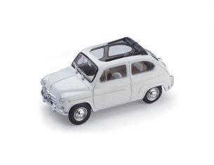 Brumm BM0317-12 FIAT 600 D BERLINA 1960 TRASFORMABILE APERTA BIANCO 1:43 Modellino