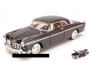 Motormax MTM73302BK CRYSLER C300 1955 BLACK 1:24 Modellino