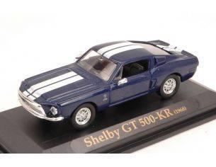 Yat Ming YM94214 SHELBY GT 500 KR 1968 BLUE/WHITE 1:43 Modellino