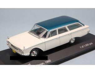White Box WB140 FORD RANCH WAGON 1960 WHITE W/ BLUE ROOF 1:43 Modellino