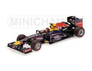 Minichamps PM410130102 RED BULL RB9 M.WEBBER 2013 N.2 2nd BRAZIL GP LAST F1 RACE 1:43 Modellino