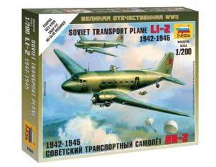 Zvezda Z6140 LI-2 SOVIET TRANSPORT PLANE WWII KIT 1:72 Modellino