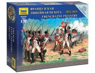 Zvezda Z6802 FRENCH LINE INFANTRY NAPOLEONIC WARS KIT 1:72 Modellino
