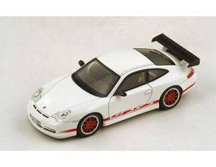 Spark Model S4473 PORSCHE 996 GT3 RS 2003 WHITE W/RED STRIPES 1:43 Modellino