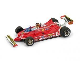 Brumm BM0575CH FERRARI 312 T5 G.VILLENEUVE 1980 N.2 BRAZIL GP + PILOTE 1:43 Modellino