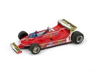 Brumm BM0576 FERRARI 312 T5 J.SCHECKTER 1980 N.1 MONACO GP 1:43 Modellino