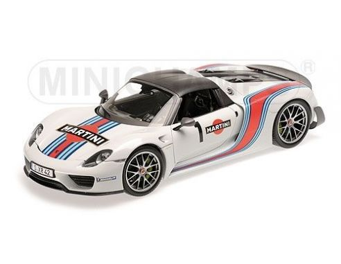 minichamps 110062440 porsche 918 spyder 2013 martini modellino modelle ma stab. Black Bedroom Furniture Sets. Home Design Ideas