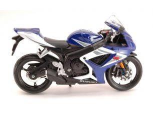 Maisto MI06184BL SUZUKI GSX-R750 WHITE/BLUE 1:12 Modellino