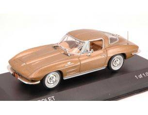 White Box WB170 CHEVROLET CORVETTE C2 STINGRAY 1963 GOLD 1:43 Modellino