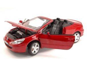 Solido SL8148CR PEUGEOT 307 CONVERTIBLE CABRIO 2003 RED 1:18 Modellino