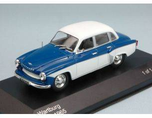 White Box WB125 WARTBURG 312 1965 BLUE/WHITE 1:43 Modellino