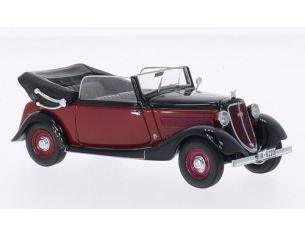 Neo Scale Models NEO46220 WANDERER W240 CONVERTIBLE BLACK/RED 1:43 Modellino