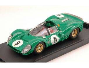 Bang BG7180 FERRARI 330 P4 SPIDER N.9 5th 1000 KM PARIGI 1967 D.PIPER-J.SIFFERT 1:43 Modellino