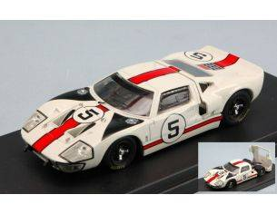 Bang BG7298 FORD GT 40 N.5 2nd 1000 KM MONZA 1966 GREGORY-WHITMORE 1:43 Modellino