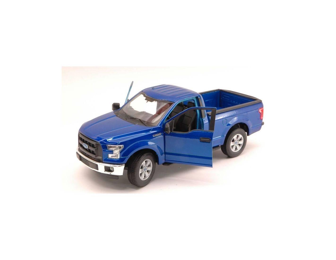 welly we4063bl ford f 150 regular cab pick up 2015 metallic blue 1 24 modellino. Black Bedroom Furniture Sets. Home Design Ideas