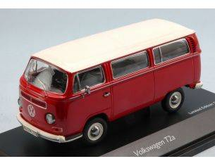Schuco SH3339 VW T2a BUS 1967 RED W/WHITE ROOF 1:43 Modellino