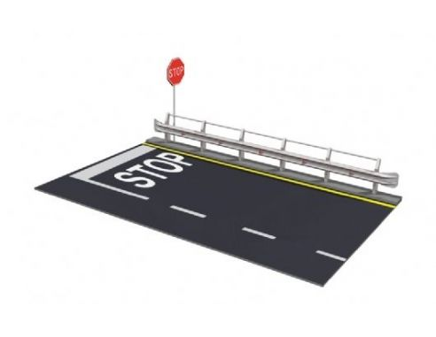 Italeri IT3864 GUARD RAIL & ROAD SECTION FOR DISPLAY KIT 1:24 KIT 1:24 Modellino