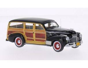Neo Scale Models NEO45840 CHEVROLET DELUXE STATION WAGON 1941 BLACK/WOODEN 1:43 Modellino