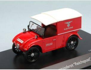 Schuco SH2958 HANOMAG KOMMISSBROT REICHSPOST RED W/WHITE ROOF 1:43 Modellino