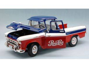 Auto World AW207 CHEVROLET PICH UP CHEVY CAMEO 1957 PEPSI COLA 1:18 Modellino