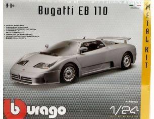 Bburago BU25025 BUGATTI EB 110 SILVER KIT 1:24 Modellino