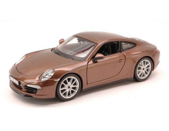 BBURAGO BU21065BW PORSCHE 911 CARRERA S 2012 BROWN 1:24 Modellino