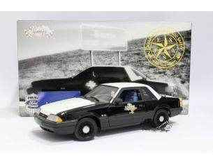 GMP Models 9062 Ford Mustang 1988 Special Service Police Texas 1:18 Modellino