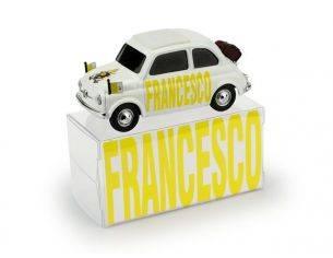 Brumm BMBR028B FIAT 500 HABEMUS PAPAM FRANCESCO VIAGGI APOSTOLICI ED.LIM.250 PCS 1:43 Modellino