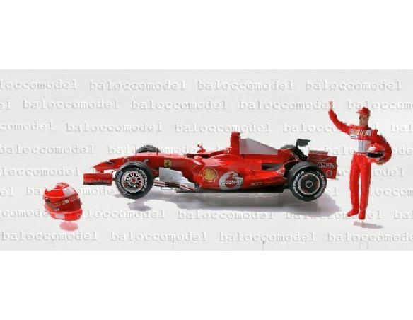 Hot Wheels J2996 FERRARI M.SCHUMACHER INTERL.'06 1:18 Modellino Scatola rovinata