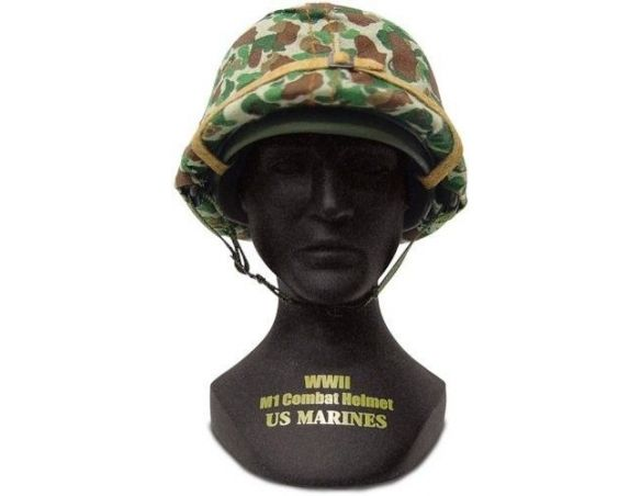 Alpha International 00301 COMBAT HELMET US MARINES WWII M1 1/4 Modellino