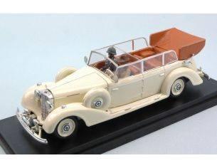 Rio RI4490P MERCEDES 770K 1938 CREAM W/FIGURE EVA BRAUN AND GUARD 1:43 Modellino